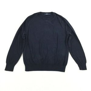 J.Crew Knit Pullover Sweater Size Extra Large Mens Navy Blue Crewneck XL